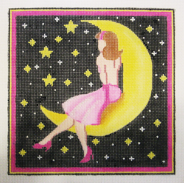 Needlepoint Moon and Stars Canvas