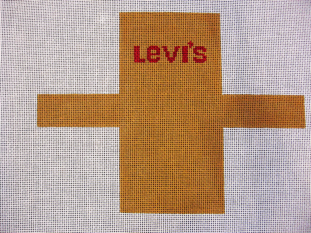 Needlepoint Levi's Shopping Bag Ornament Canvas