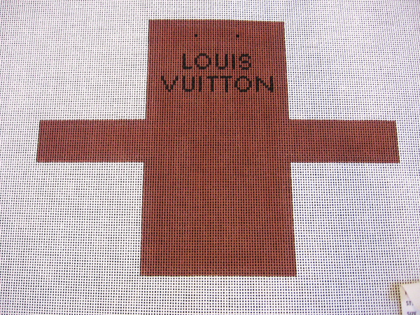 Needlepoint Louis Vuitton Shopping Bag Ornament Canvas