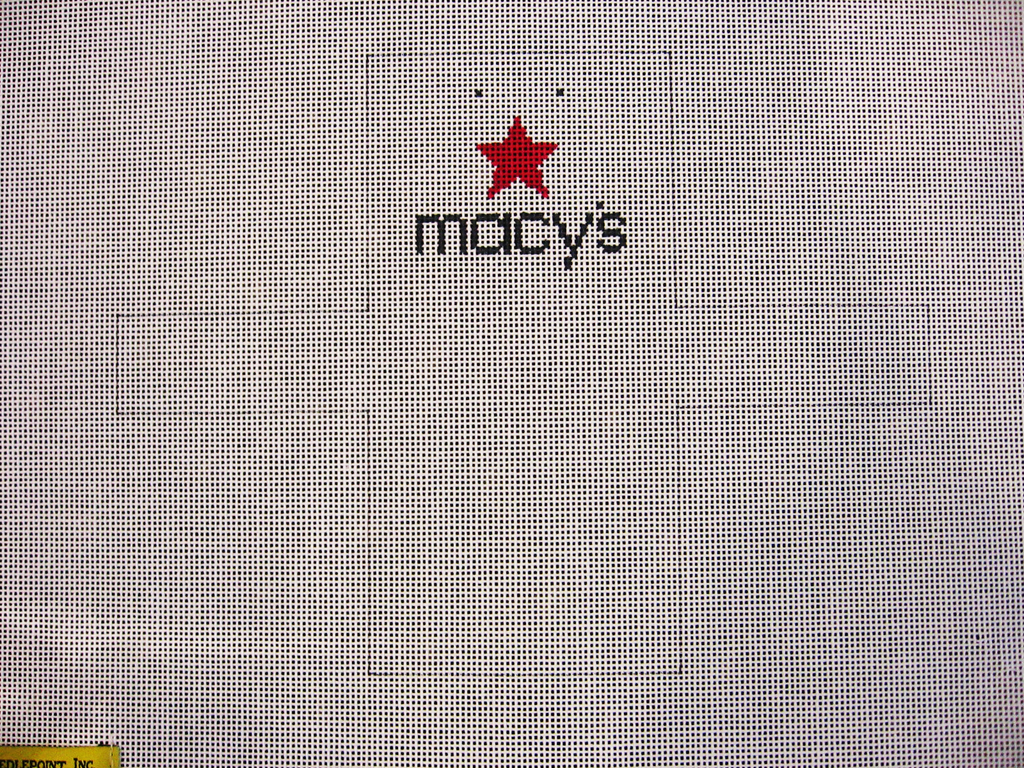 Needlepoint Macy's  Shopping Bag Ornament Canvas