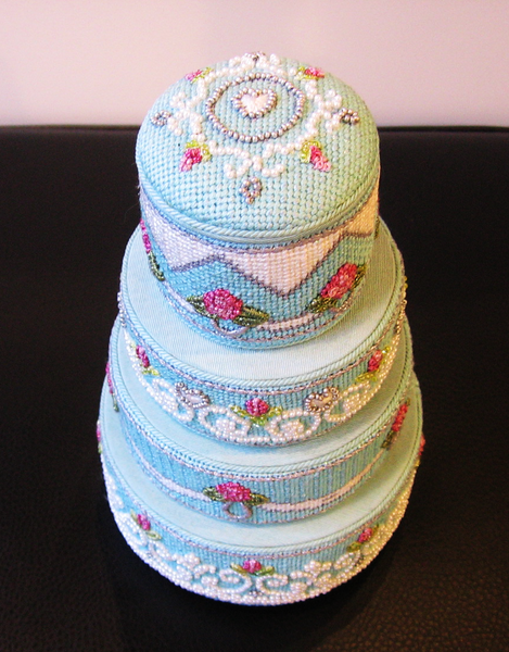 Needlepoint Wedding Cake Canvas