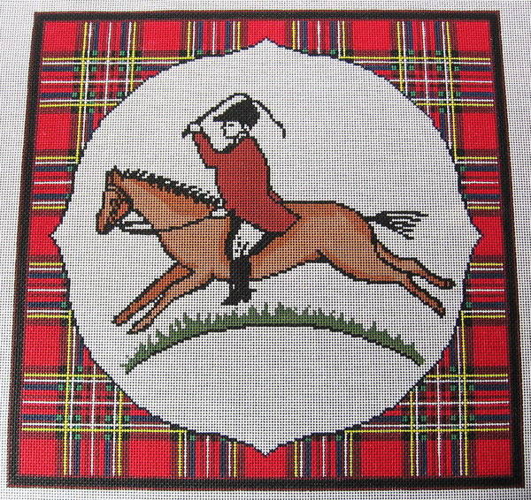 Needlepoint Rider  Canvas