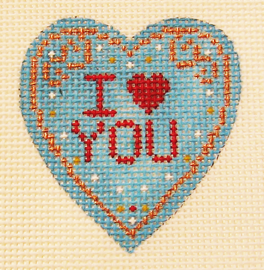 Needlepoint I Love You Canvas