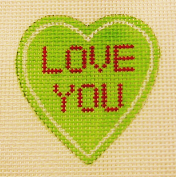 Needlepoint Love You Canvas