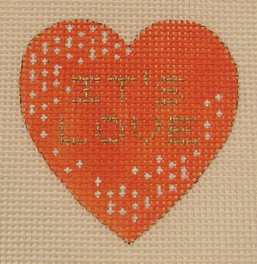 Needlepoint It's Love Canvas