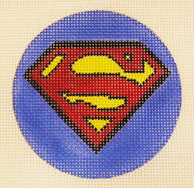 Needlepoint Superman Canvas