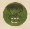 Needlepoint Green Hulk Canvas