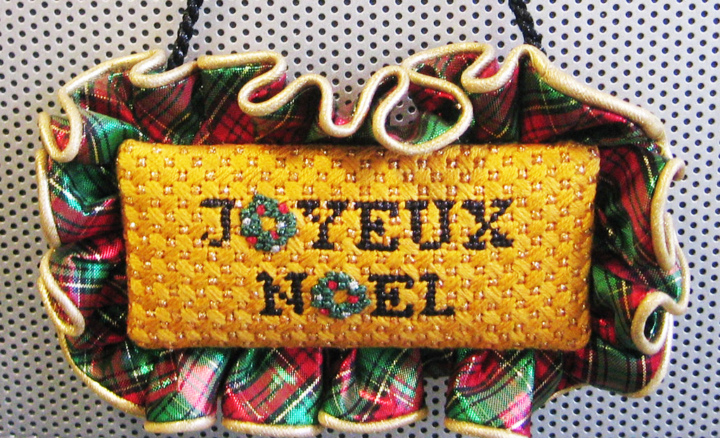 Needlepoint Joyeux Noel Canvas