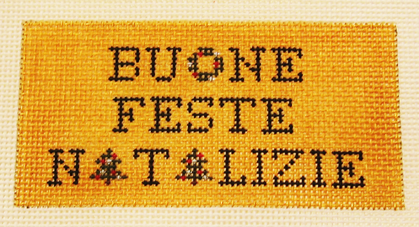 Needlepoint Buone Feste Natalizie Canvas