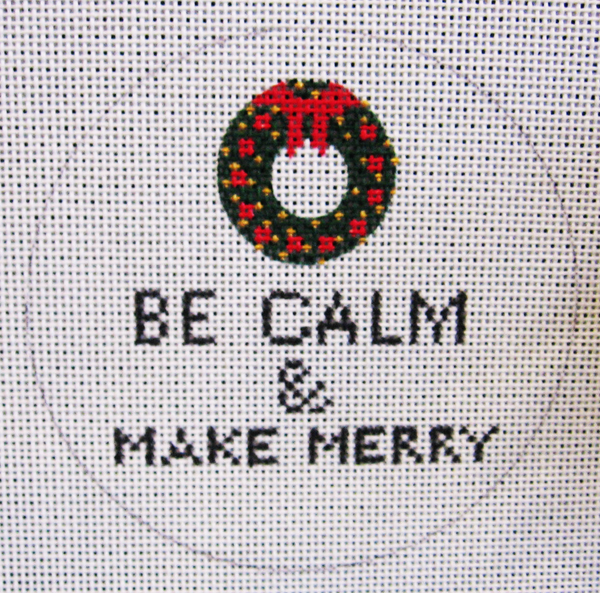 Needlepoint Keep Calm and Make Merry Canvas