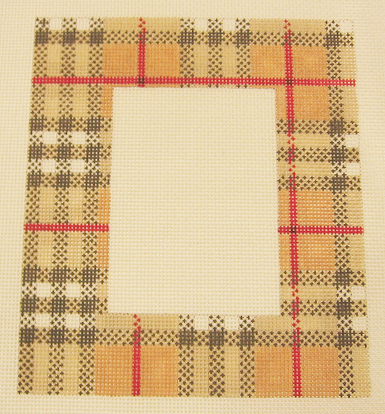 Needlepoint Plaid Picture Frame Canvas
