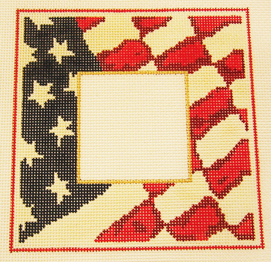 Needlepoint Americana Picture Frame Canvas