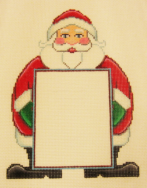 Needlepoint Santa Picture Frame Canvas