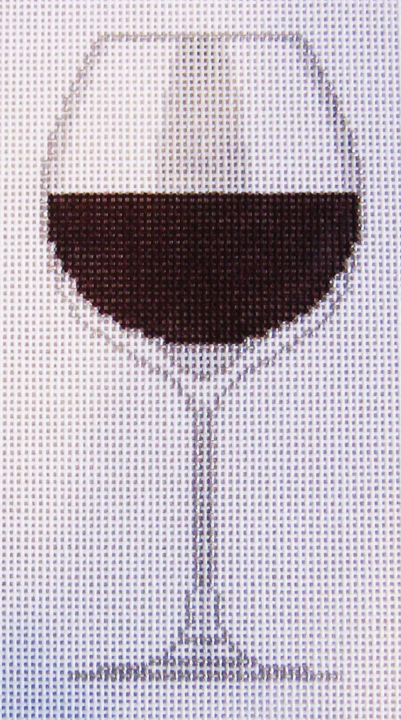 Needlepoint Merlot Canvas