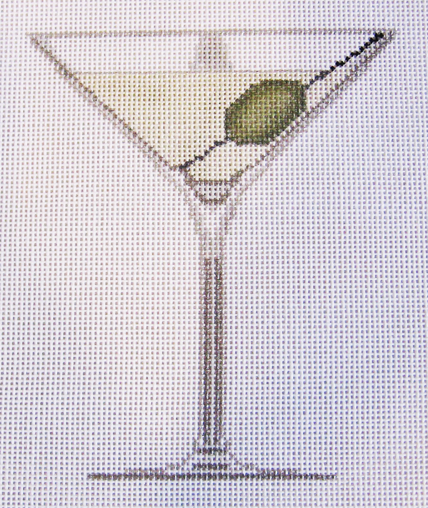 Needlepoint Martini Canvas