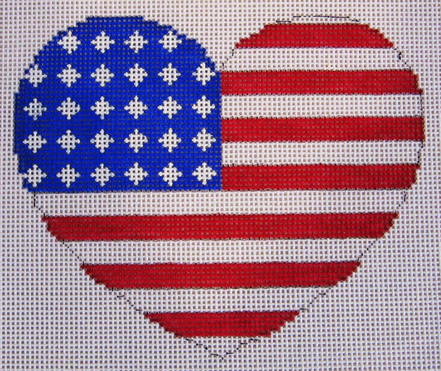 Needlepoint Heart Canvas