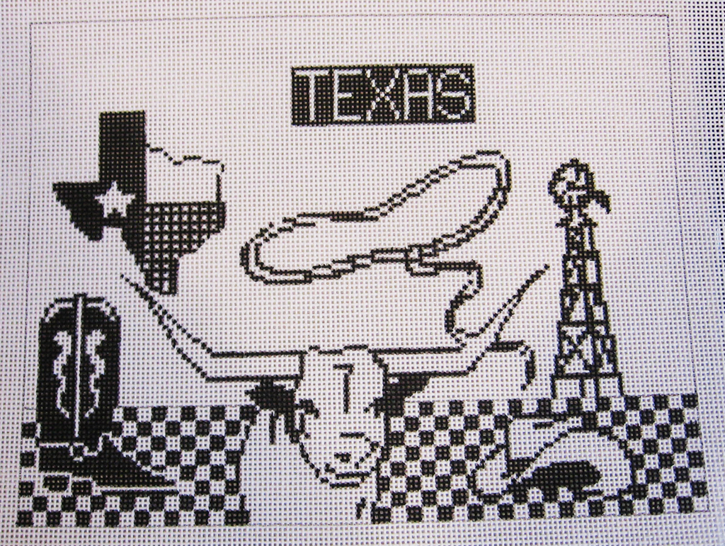 Needlepoint Texas Canvas