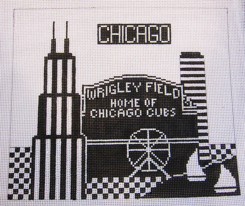 Needlepoint Chicago Canvas
