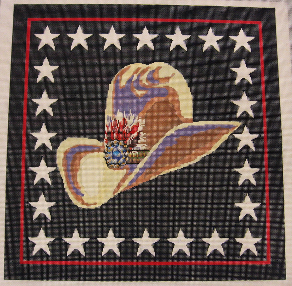 Needlepoint Cowboy Hat Canvas