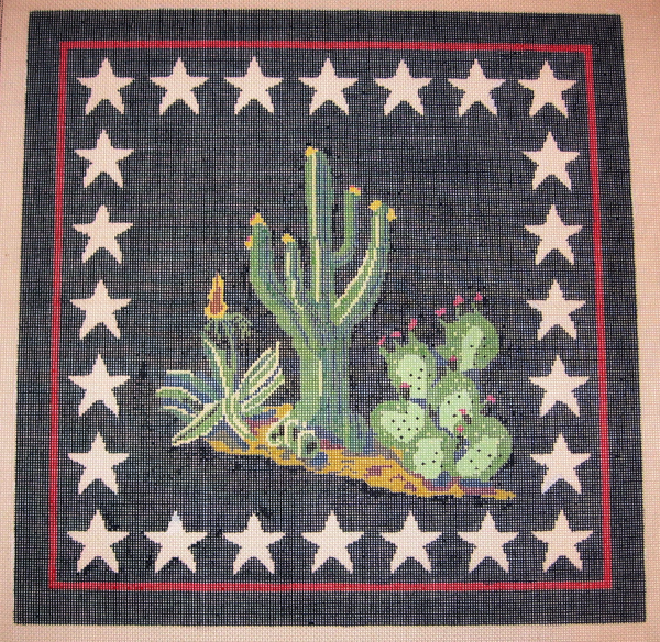Needlepoint Cactus Canvas