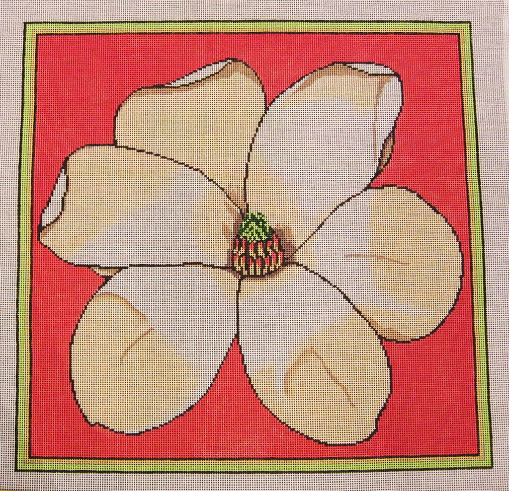 Needlepoint Magnolia Canvas