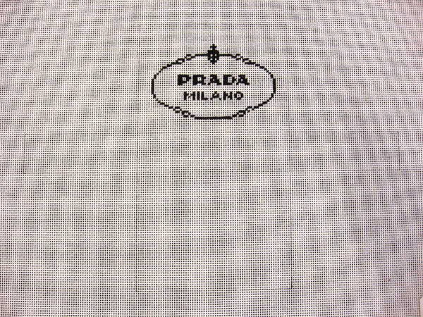 Needlepoint Prada Shopping Bag Ornament Canvas