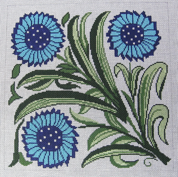 Needlepoint Floral Textile Canvas