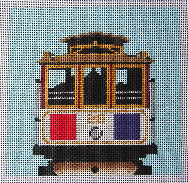 Needlepoint Cable Car Canvas