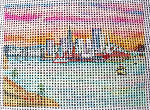 Needlepoint San Francisco Canvas