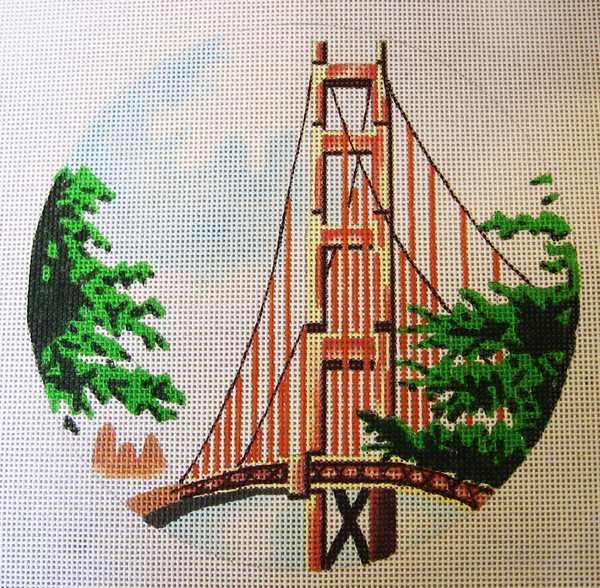 Needlepoint Golden Gate Bridge Canvas