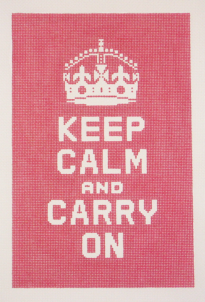Needlepoint Keep Calm and Carry On Canvas