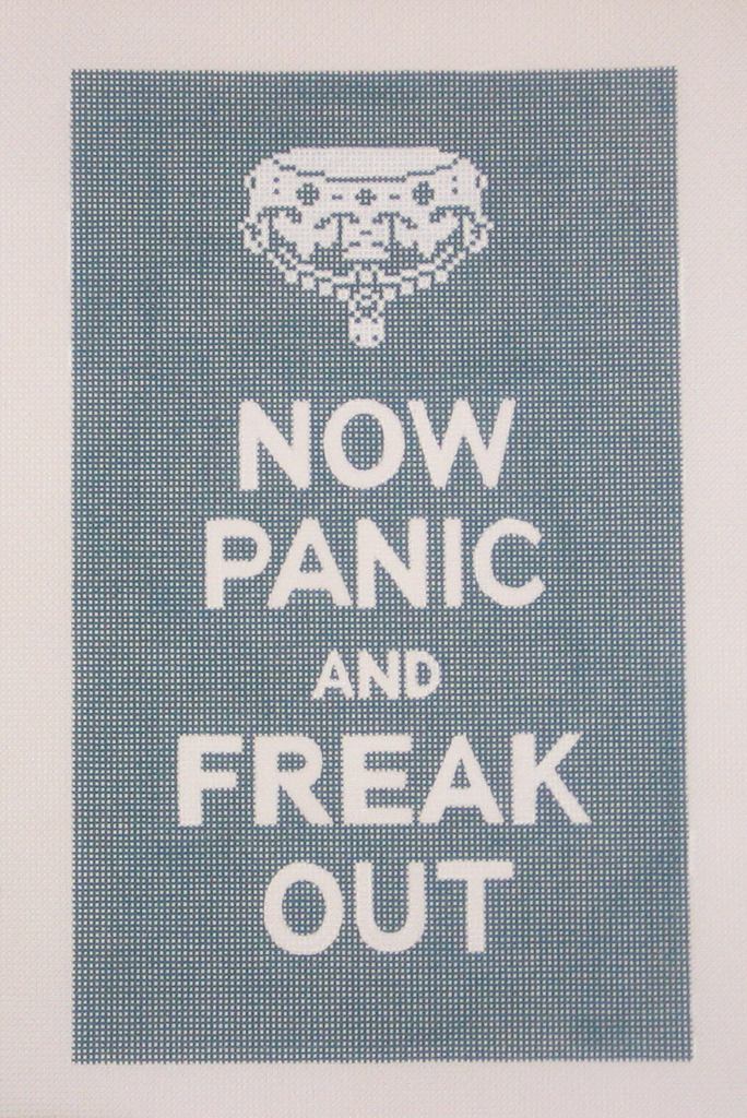 Needlepoint Now Panic and Freak Out Canvas