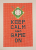 Needlepoint Keep Calm and Game On Canvas