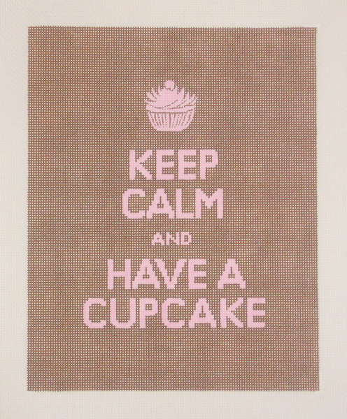 Needlepoint Keep Calm and Have a Cupcake Canvas