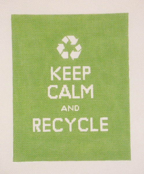 Needlepoint Keep Calm and Recycle Canvas