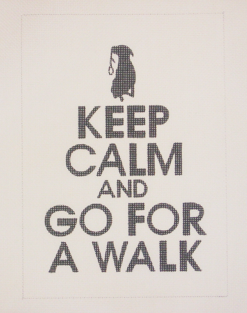 Needlepoint Keep Calm and Go For a Walk Canvas