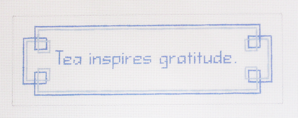 Needlepoint Gratitude Canvas