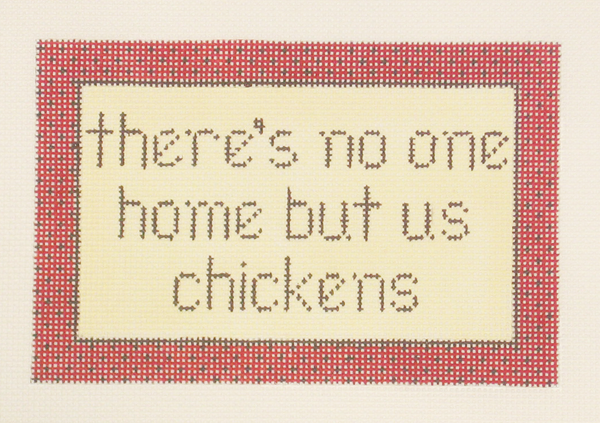 Needlepoint Chicken Canvas