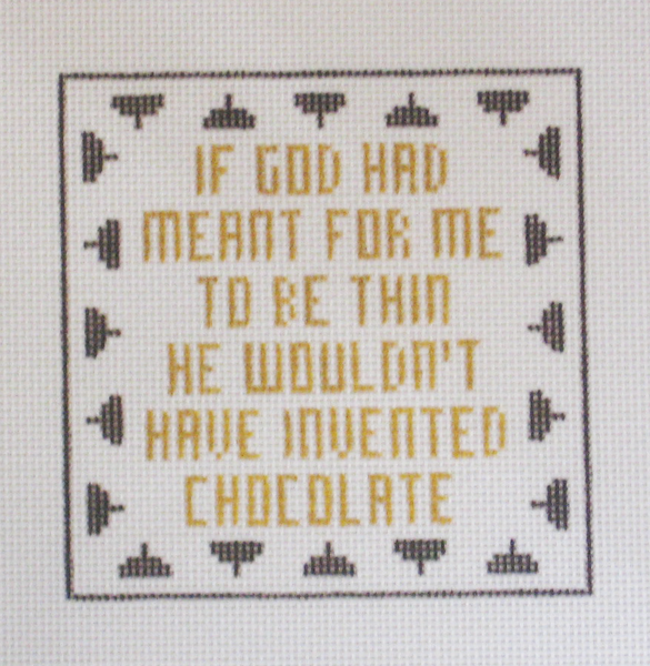 Needlepoint Chocolate Canvas