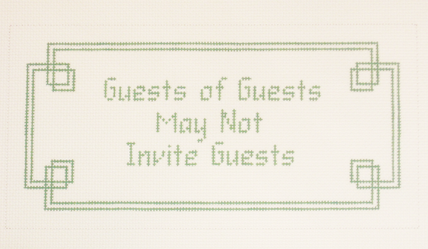 Needlepoint Guest Canvas