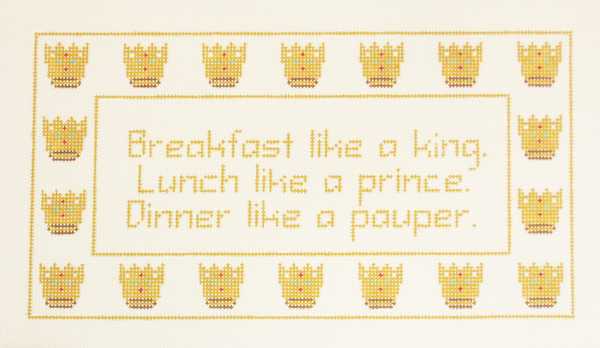 Needlepoint Breakfast Canvas