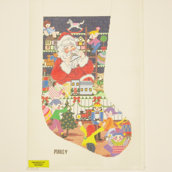 Needlepoint Mr. Santa canvas