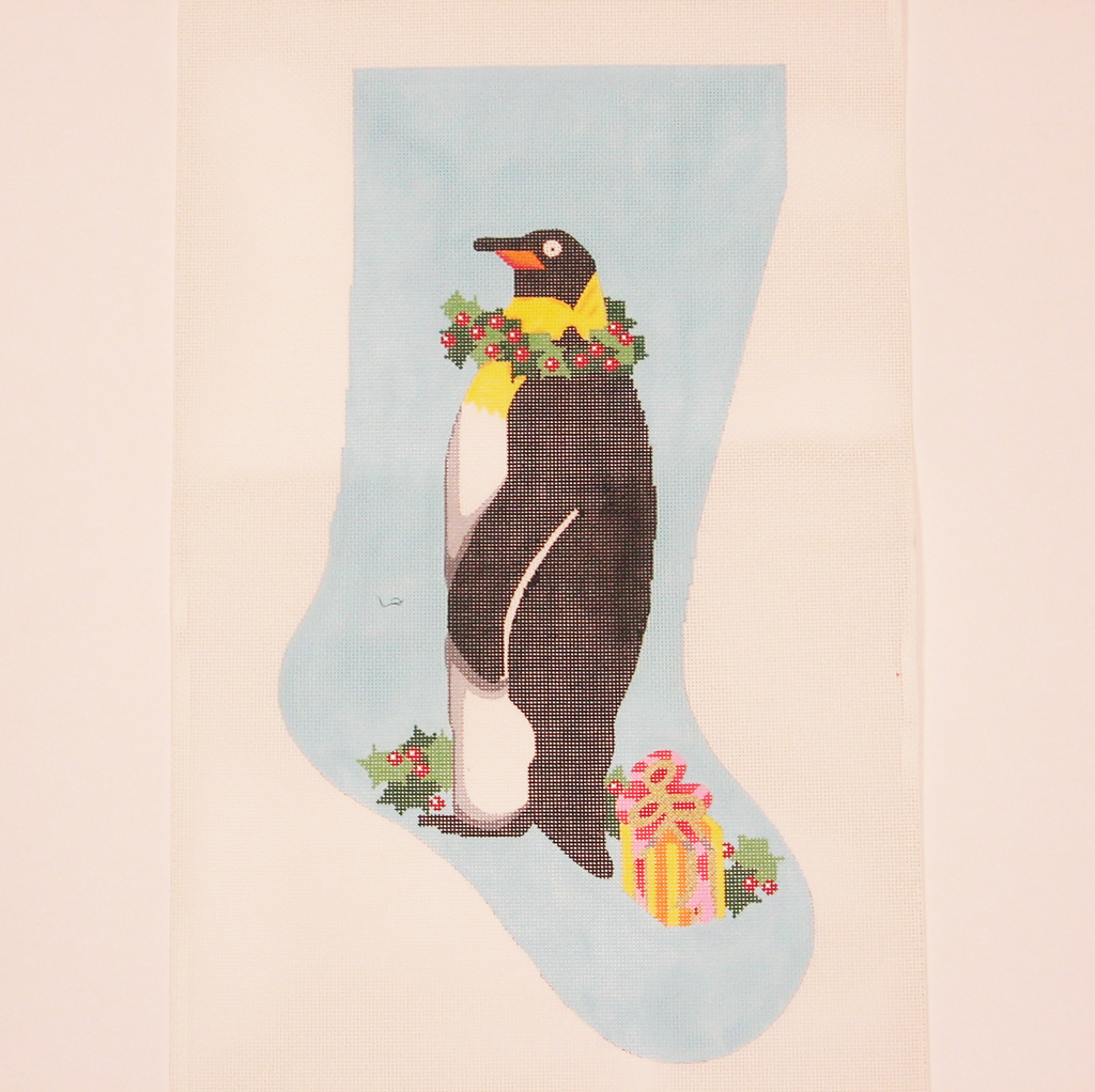 Needlepoint Mother and Baby Penguin canvas