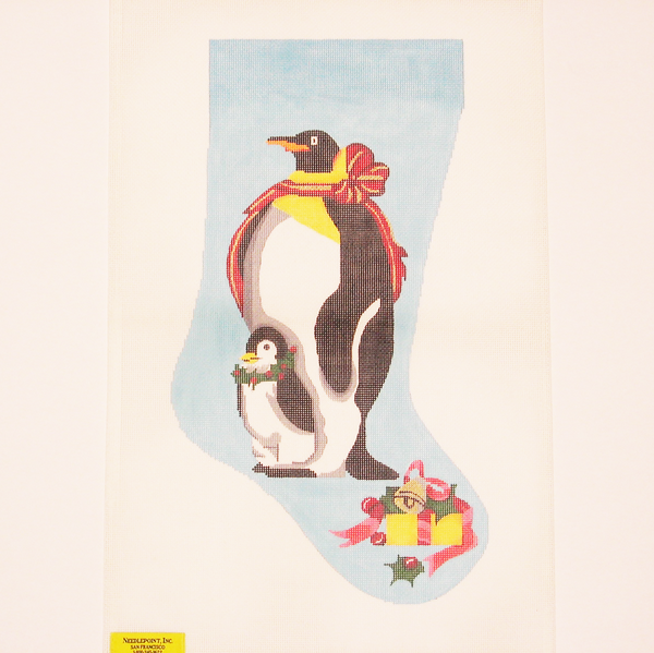 Needlepoint Father Penguin canvas