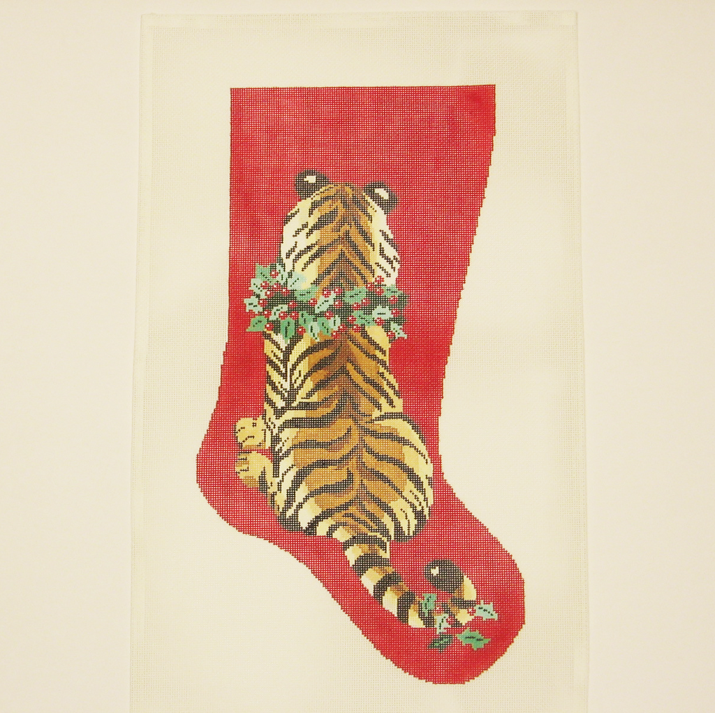 Needlepoint Tiger canvas