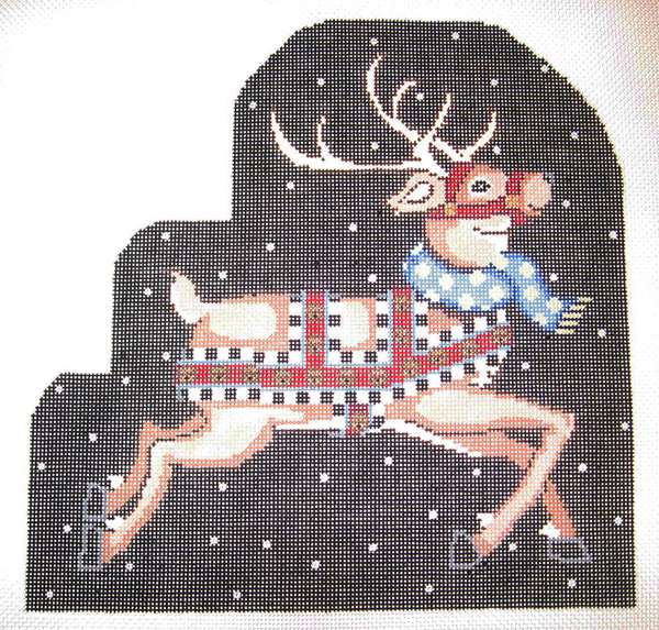 Needlepoint Blitzen Canvas