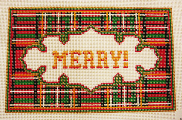 Needlepoint Merry Canvas