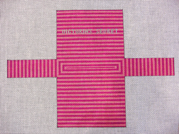 Needlepoint Victoria's Secret Shopping Bag Ornament Canvas