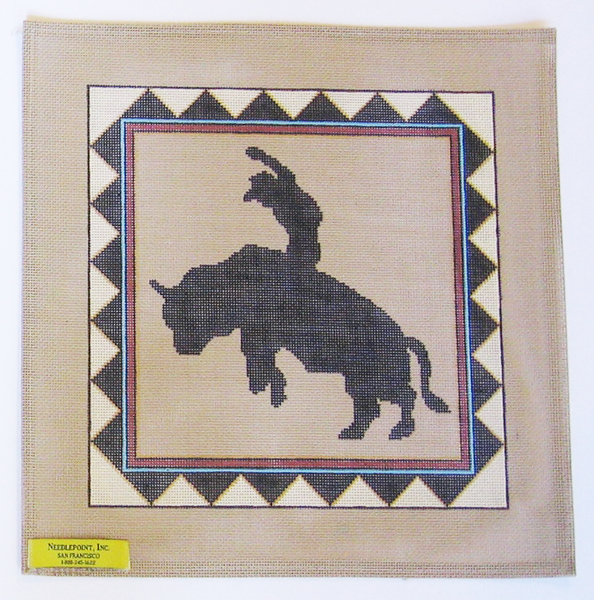 Needlepoint Bronco Canvas
