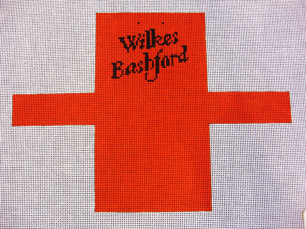 Needlepoint Wilkes Bashford Shopping Bag Ornament Canvas